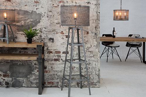 Lampadaire design Loft métal argent 155 cm