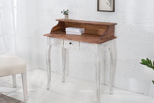 Console / bureau La Fleur bois acajou blanc/nature 1 tiroir 92 cm