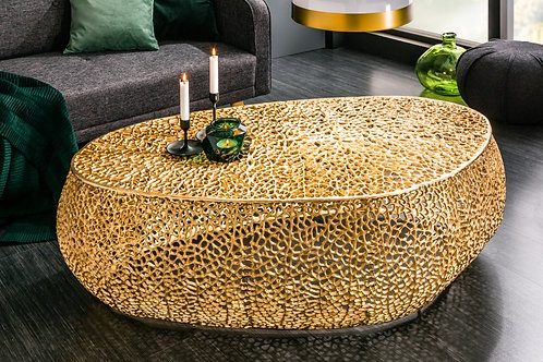 Table basse Leaf 122cm or