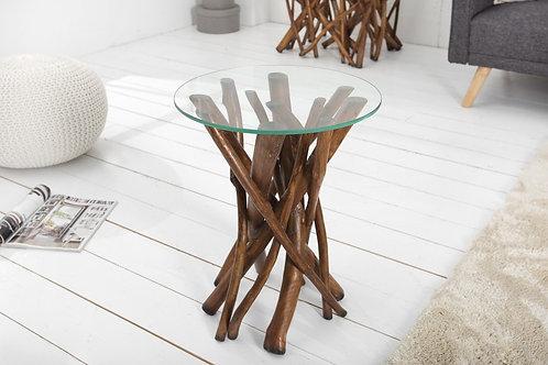 Table d'appoint design Driftwood 40cm marron