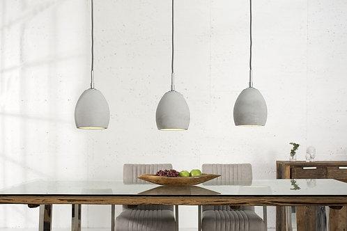 Lampe suspendue design Cement 3 luminaires gris