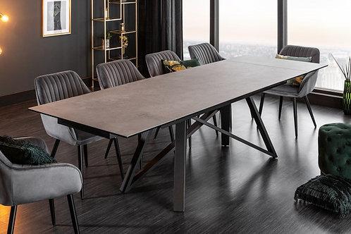 Table à manger Atlas 180-220-260cm céramique aspect béton