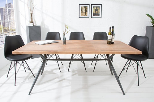 Table repas industrielle Craft acacia 180cm