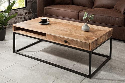 Table basse Iron Craft 100cm mangue naturelle