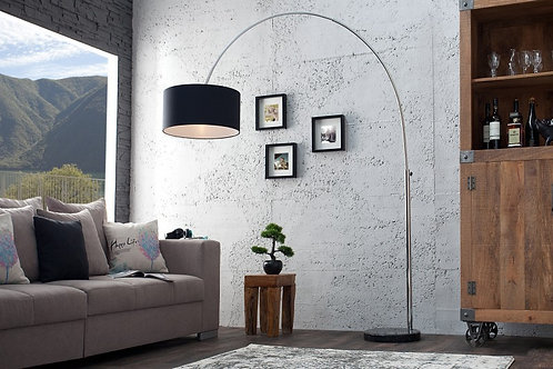 Lampadaire arc design Big Bow métal/lin 200 cm
