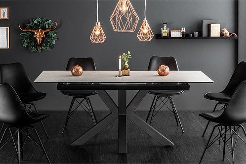 Table à manger design Eternity 180-225cm béton céramique