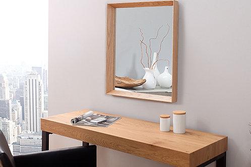 Miroir design Oak rectangulaire en bois massif chêne 54 cm