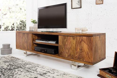 Meuble TV design Elements en bois massif sheesham 160 cm