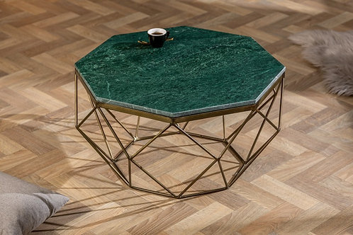 Table basse Diamond 70cm vert marbre