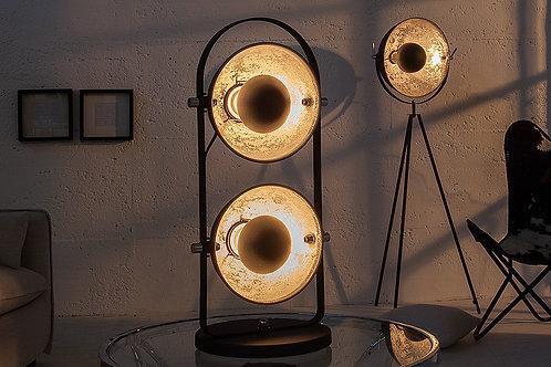 Lampe à poser design Studio noir/argent duo