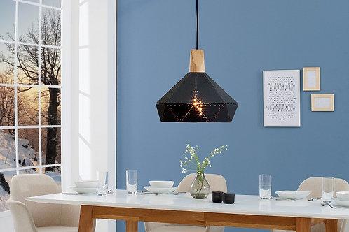 Suspension design Scandinavia en métal noir 141 cm
