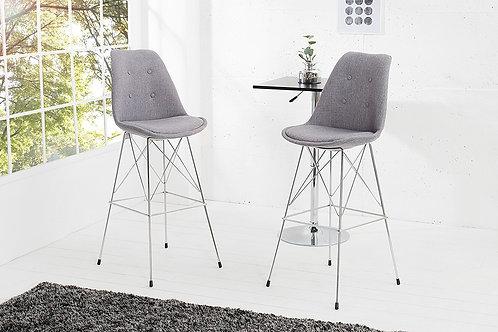 Chaise de bar design Scandinavia gris
