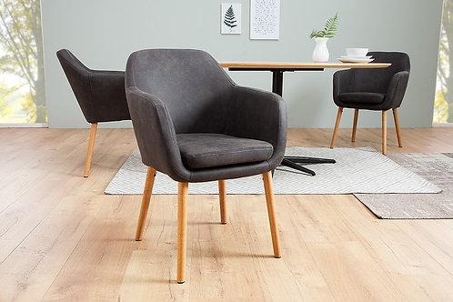 Chaise design gris vintage Supreme 80 cm