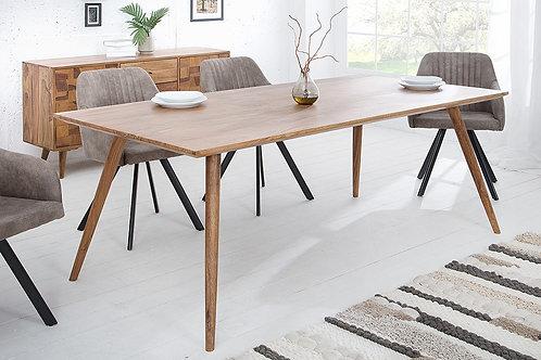 Table repas design Mosaico en bois massif de Sheesham 200 cm