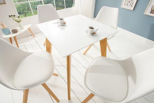 Table à manger design Scandinavia 70cm blanc
