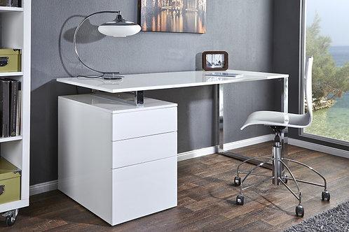 Bureau design Compact 160cm Blanc