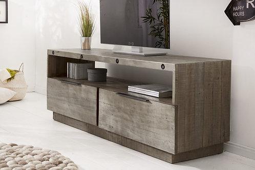 Meuble TV Lowboard TV Finca 150 cm bois de pin gris