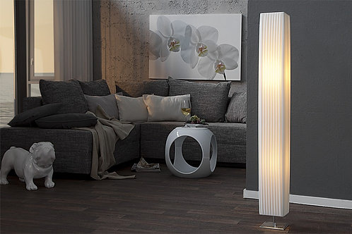 Lampe tube design Paris blanc 120 cm
