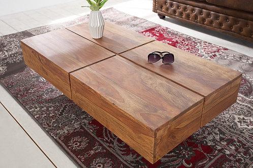 Table basse design Bolt rectangle en bois palissandre 110 cm