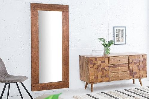 Miroir design Hemingway bois teck recyclé 180 cm
