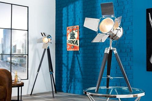 Lampadaire trépied design Hollywood métal chromé 65 cm