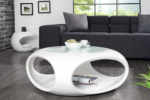 Table basse design Organic blanc laqué