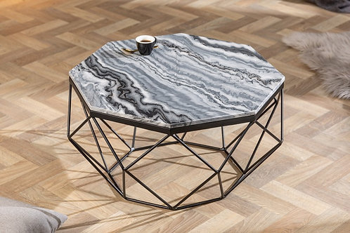 Table basse Diamond 70cm marbre gris