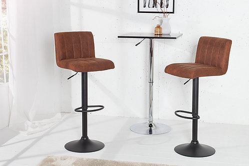 Tabouret de bar design Portland vintage brun