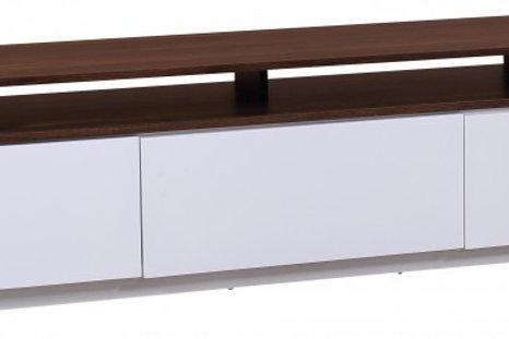 Meuble TV Lowboard Loft 180cm noyer blanc