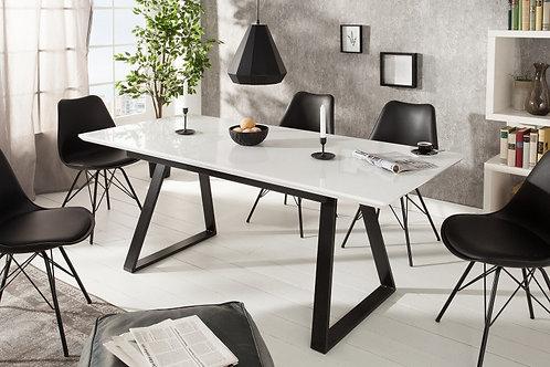 Table à manger 140-180cm blanc