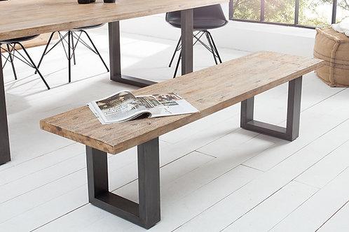 Banc design Wotan 160cm acacia gris