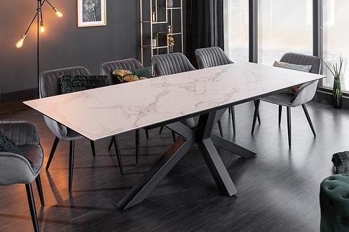 Table à manger Eternity 180-225cm aspect marbre
