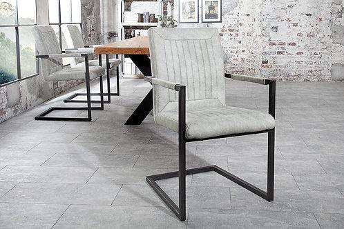 Chaise luge design Bristol vintage gris pierre 92 cm