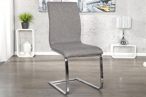 Chaise design Hampton imitation cuir gris