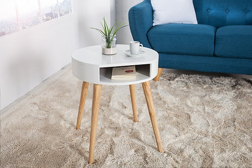 Table d'appoint design Scandinavia en bois massif 50 cm