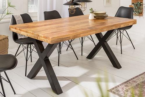 Table à manger Iron Craft 200cm mangue naturelle 70mm
