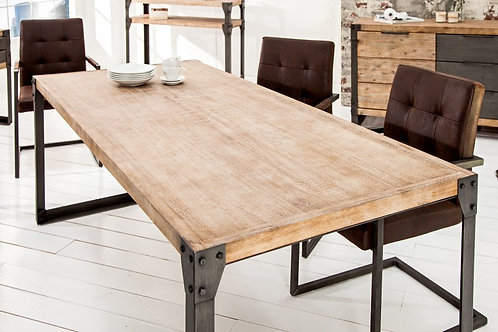 Table à manger Factory 160cm acacia teck gris