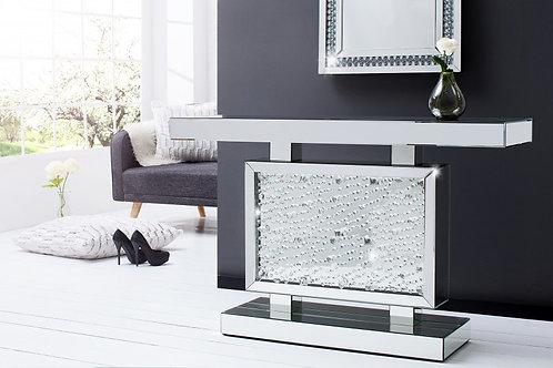 Console design Brilliant en miroir incrusté de strass 120 cm