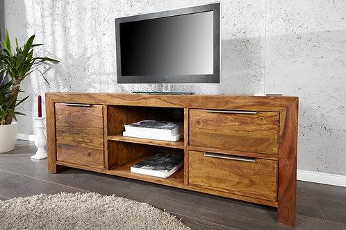 Meuble TV design Lagos bois massif 135 cm