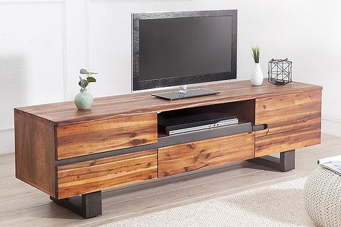 Meuble TV design Genesis bois massif acacia 160 cm