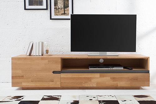Meuble TV design Wotan bois massif chêne huilé 170 cm