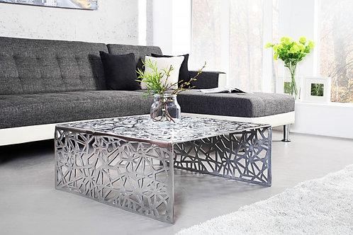 Table basse Abstract 60cm argent