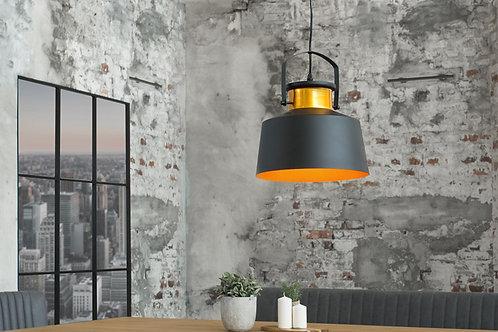 Suspension design Luz en métal noir/or 150 cm