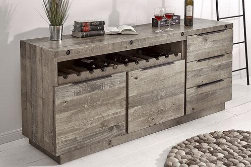 Buffet Finca 175cm bois de pin gris