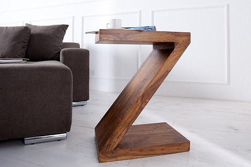 Table d'appoint design Z en bois massif sheesham