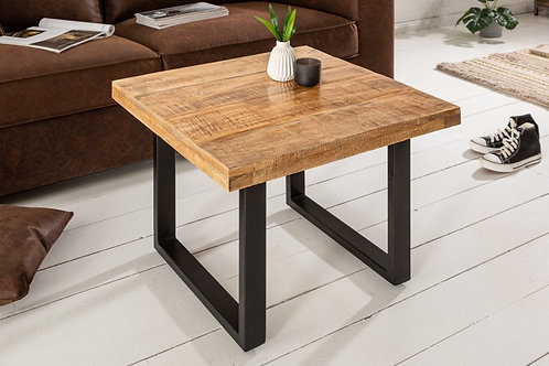 Table basse Iron Craft 60cm Mango 45mm