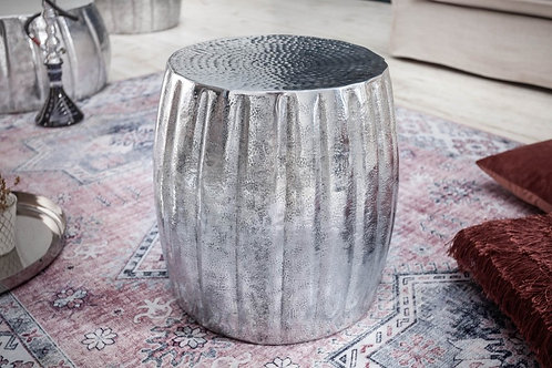 Table d'appoint Marrakech 42cm aluminium argent