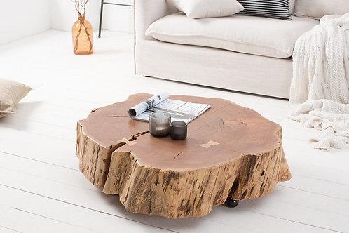 Table basse Goa 80cm roulettes acacia naturel