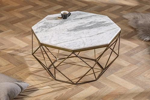 Table basse Diamond 70cm marbre blanc