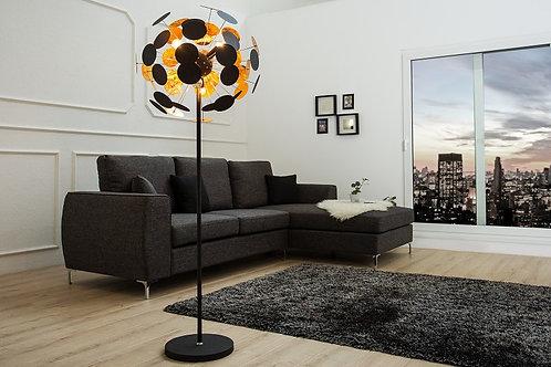 Lampadaire design Infinity 170cm or et noir